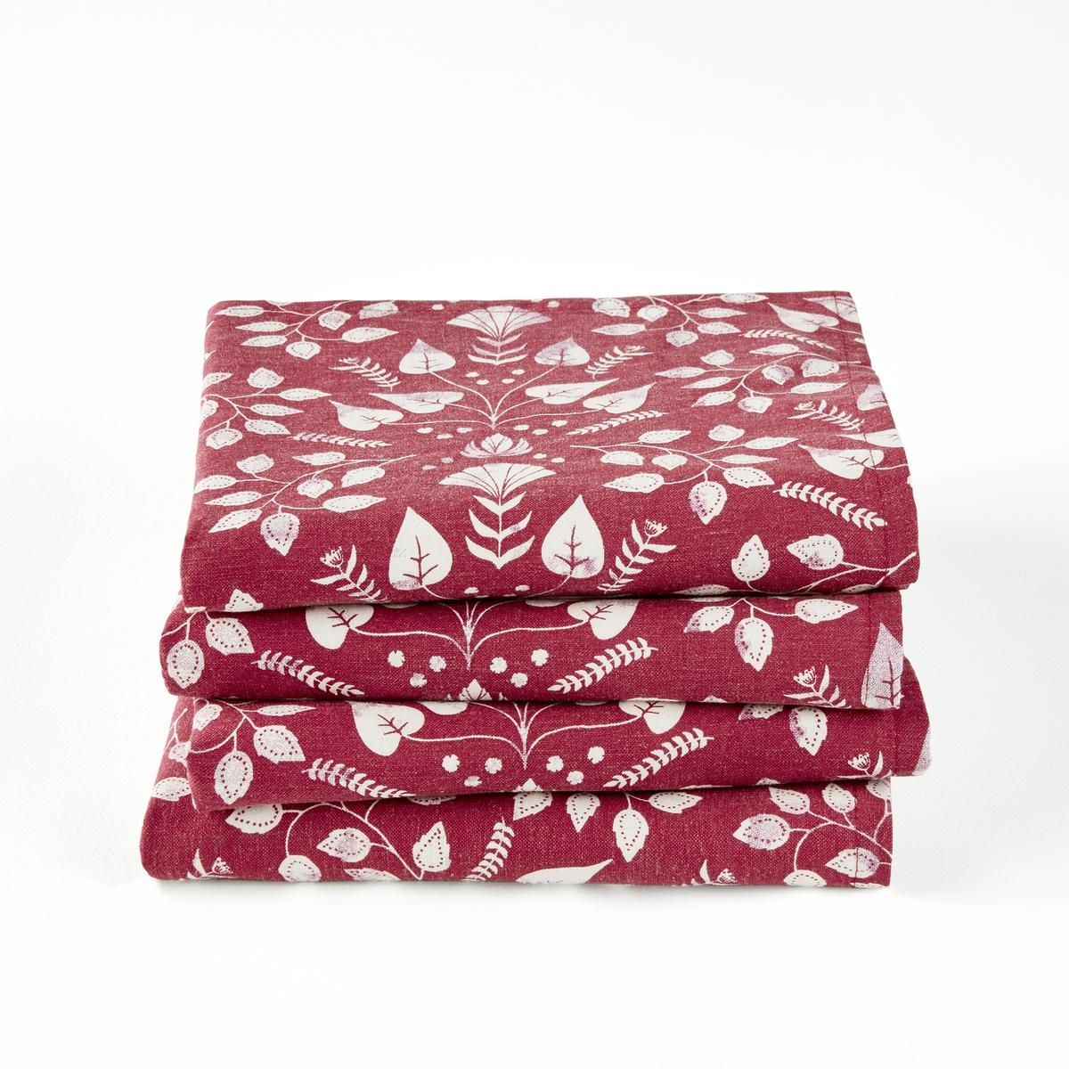 Tovaglioli cotone/lino ROMANE, confezione da 4