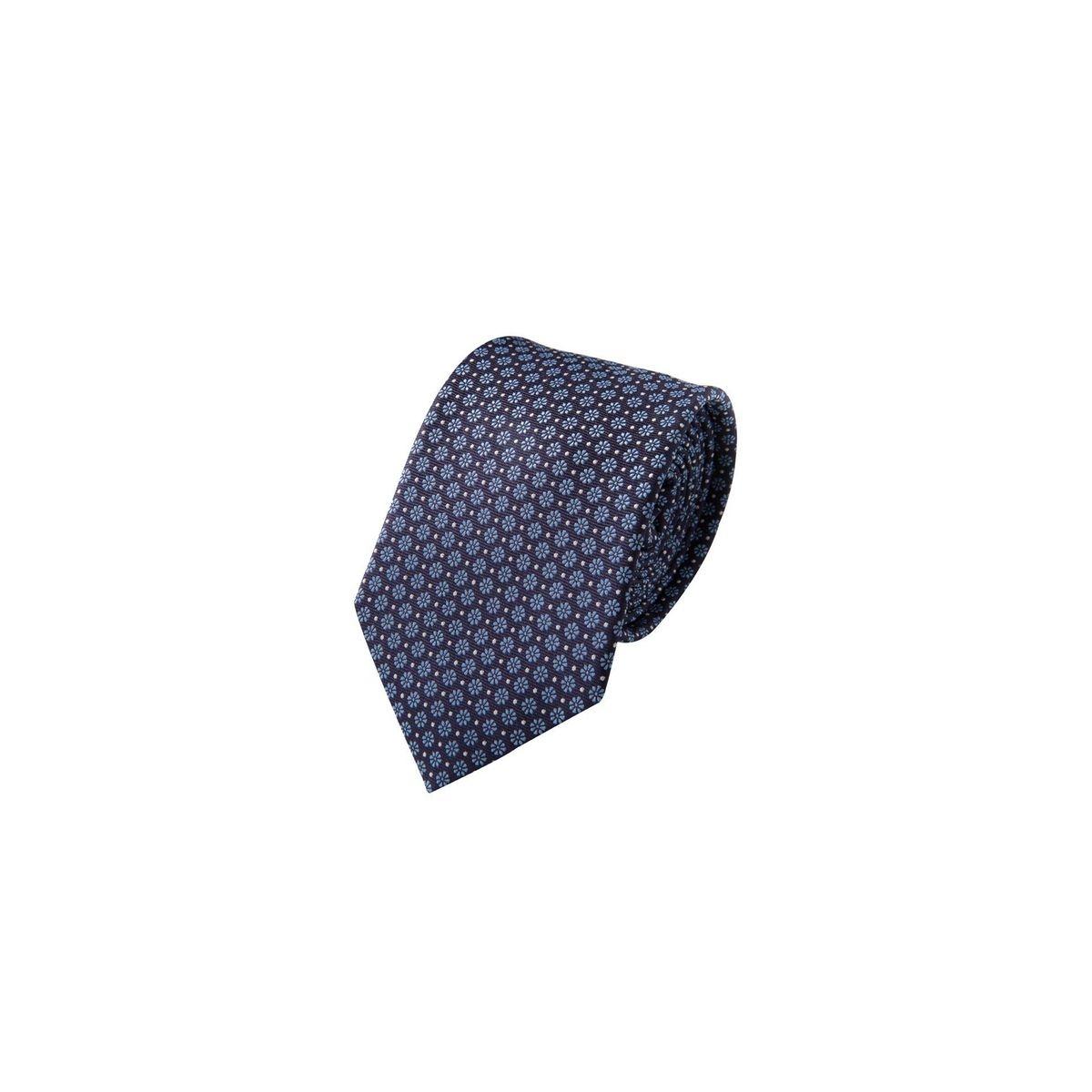 Cravate à micro-motifs petites fleurs en soie, Made in France