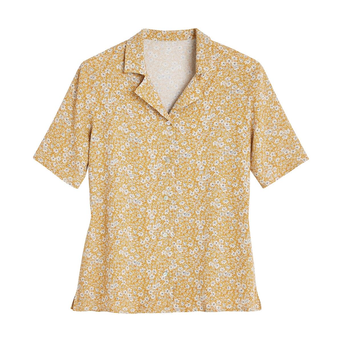 Camisa de manga corta con estampado de flores