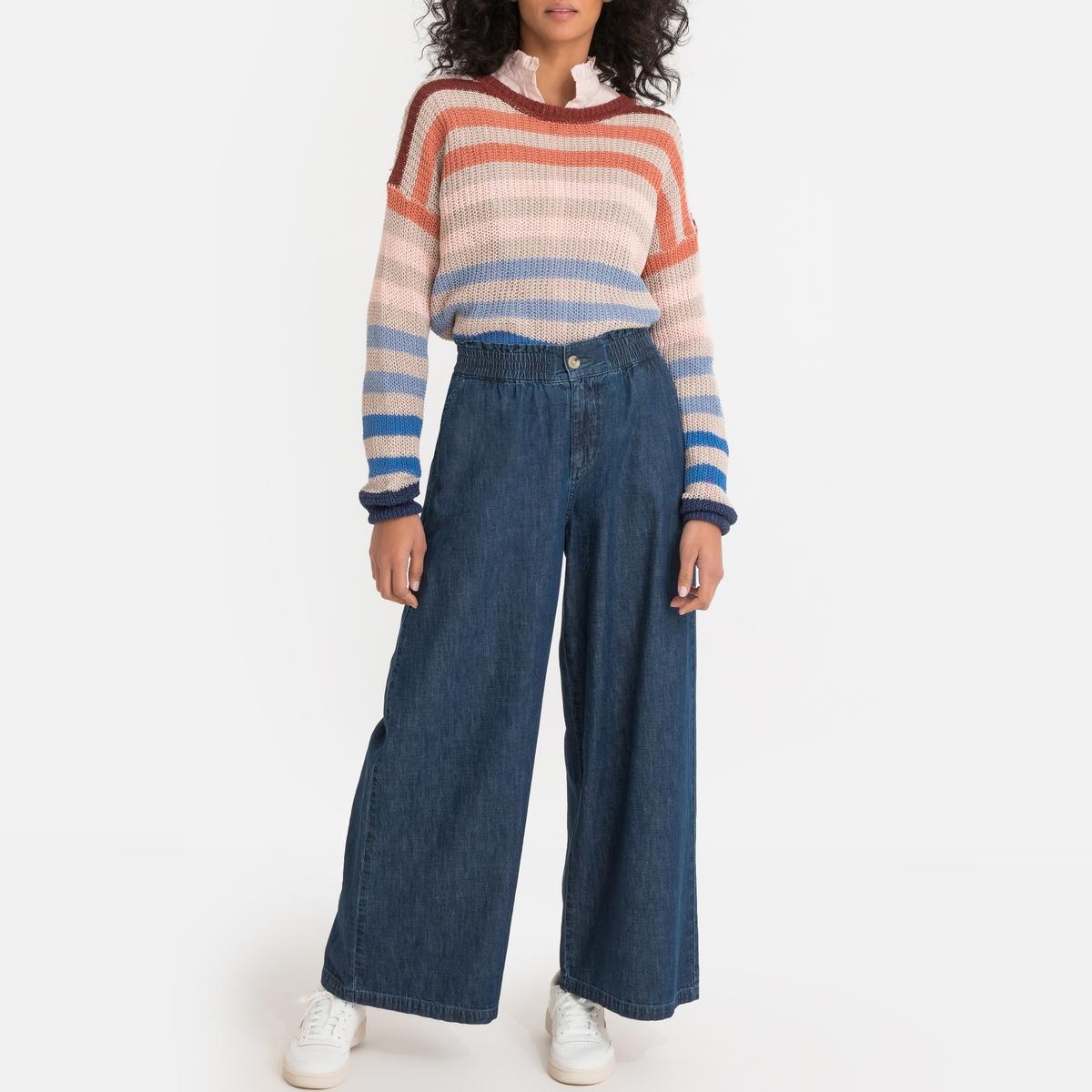 Imagen secundaria de producto de Jersey de lino mezclado de cuello redondo - Pepe Jeans