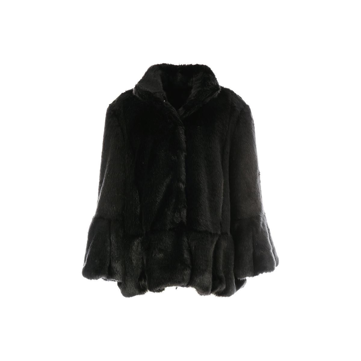 Пальто средней длины, зимняя модельДетали •  Длина  : средняя  •  Воротник-стойка •  Застежка на кнопки Состав и уход •  100% акрил  •  Следуйте советам по уходу, указанным на этикетке<br><br>Цвет: черный