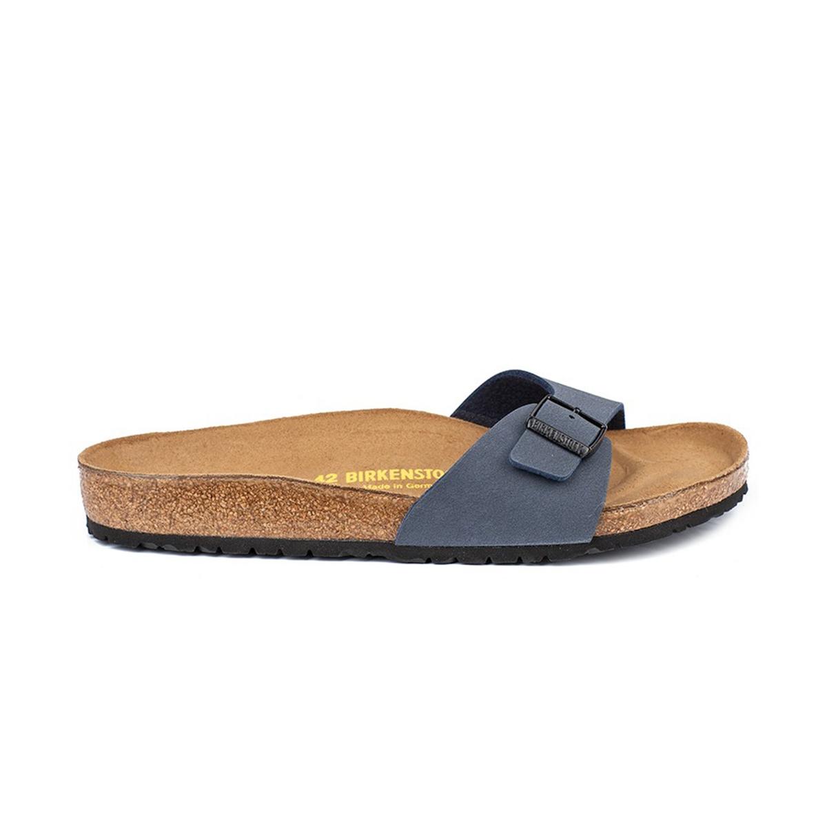 Туфли без задника синтетическиеДетали   •  Туфли без задника •  Застежка : без застежки •  Открытый мысок •  Гладкая отделкаСостав и уход   •  Верх 100% синтетический материал •  Подкладка 100% текстиль •  Стелька 100% кожа •  Подошва 100% ЭВА<br><br>Цвет: темно-синий