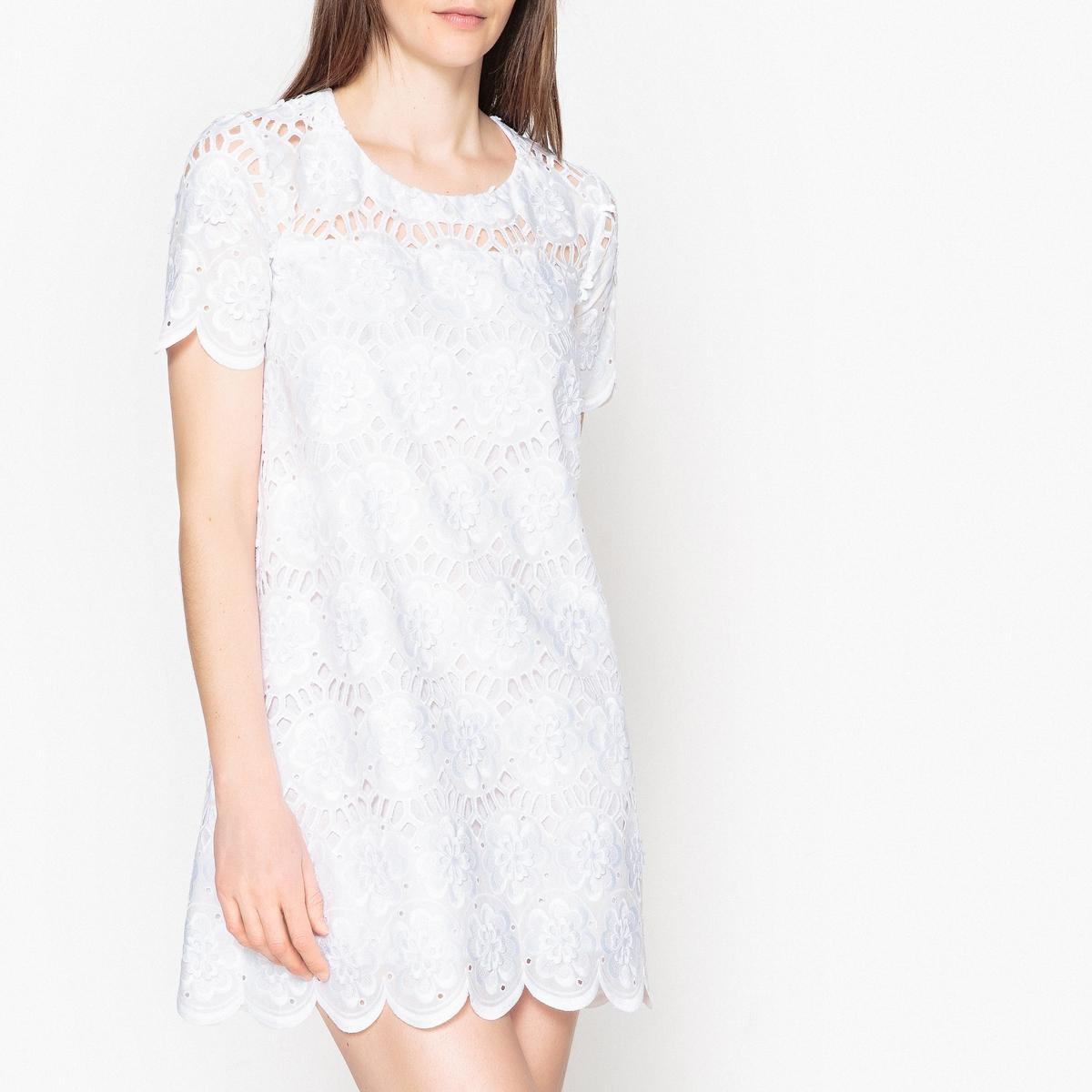 Платье с вышивкой AHSTON