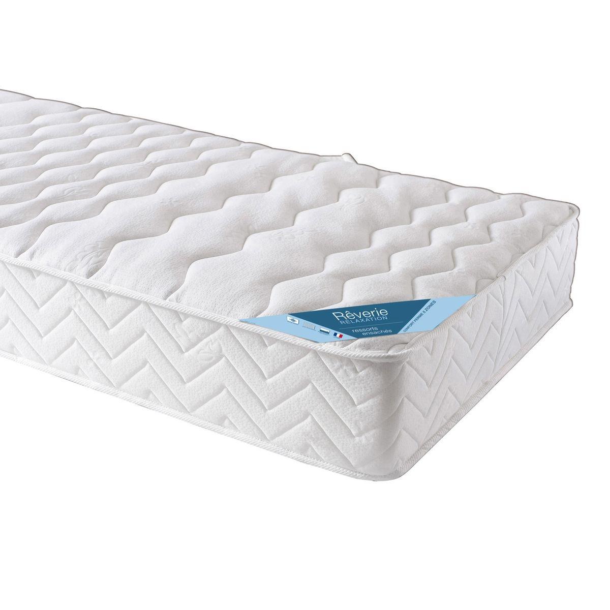 55 sur matelas donatello 90 140 160 cm 640 ressorts ensach s 5 zones de confort vendu par. Black Bedroom Furniture Sets. Home Design Ideas