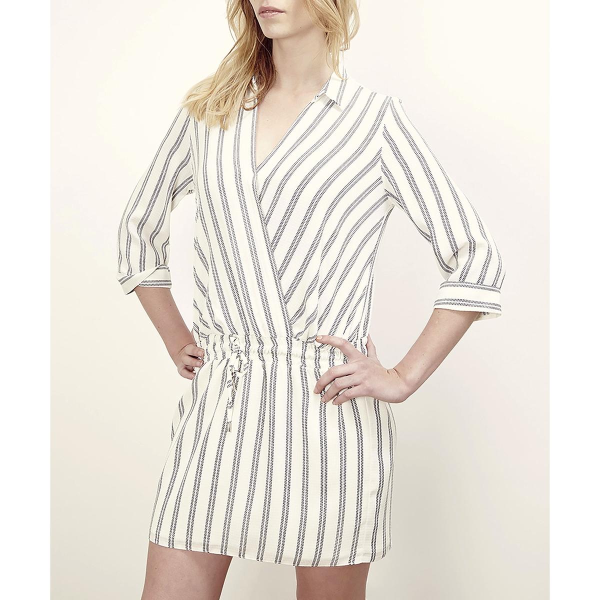 Платье с короткими рукавами, кашкер, с завязками LENNY B, RADIAСостав и описание :Материал : 100% полиэстераМарка : LENNY B<br><br>Цвет: экрю<br>Размер: 2(M)