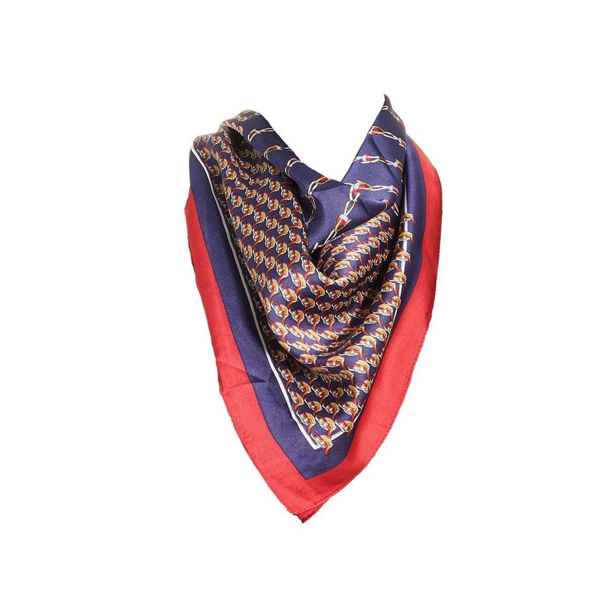 Foulard motif Bleu avec sa pochette cadeau