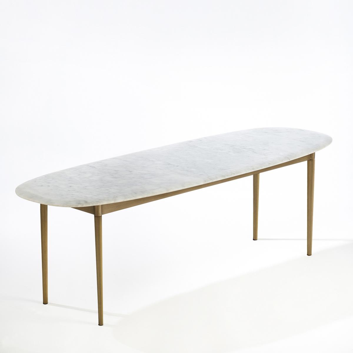 Столик LaRedoute Журнальный прямоугольный Adelong единый размер белый