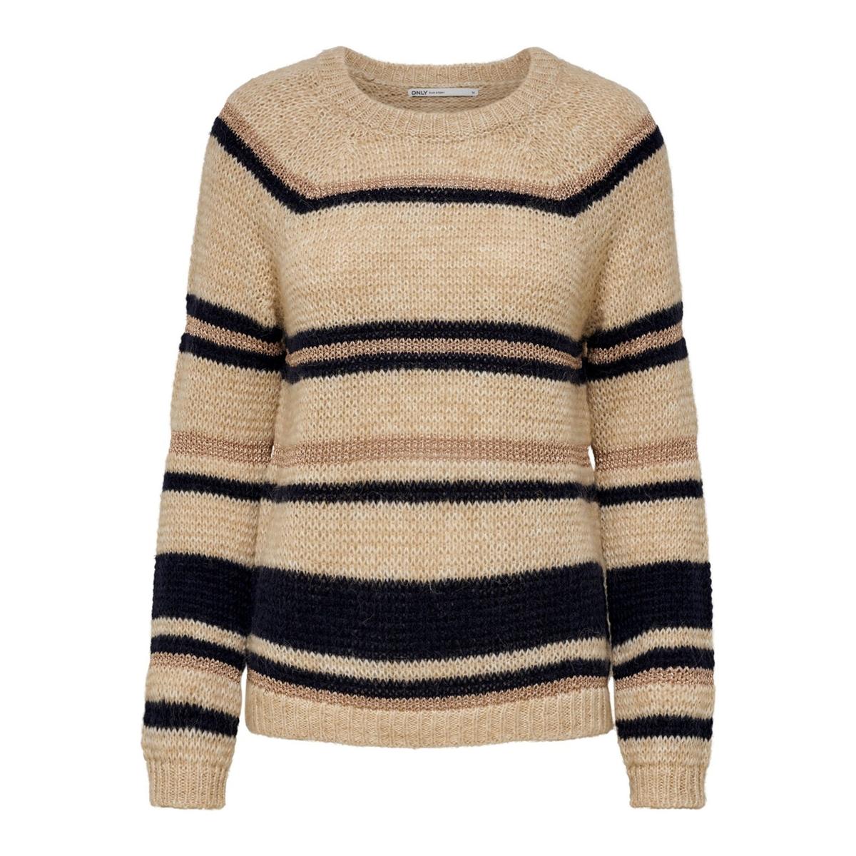 Пуловер La Redoute В полоску из плотного трикотажа XS бежевый lbellagiovanna redfushia белый бежевый xs