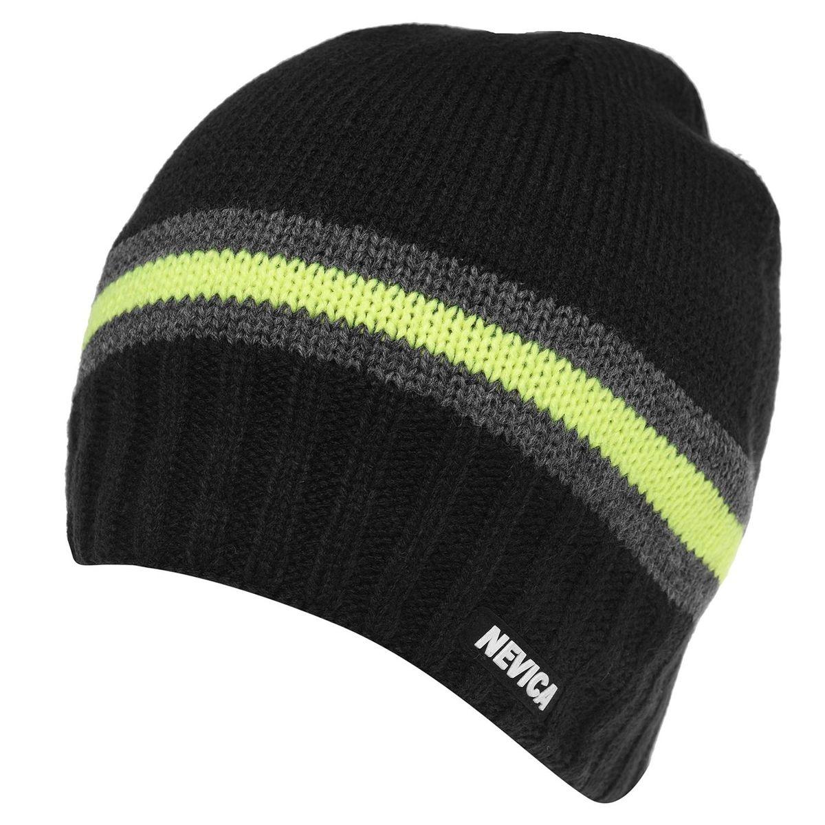 Chapeau de ski bonnet rayé