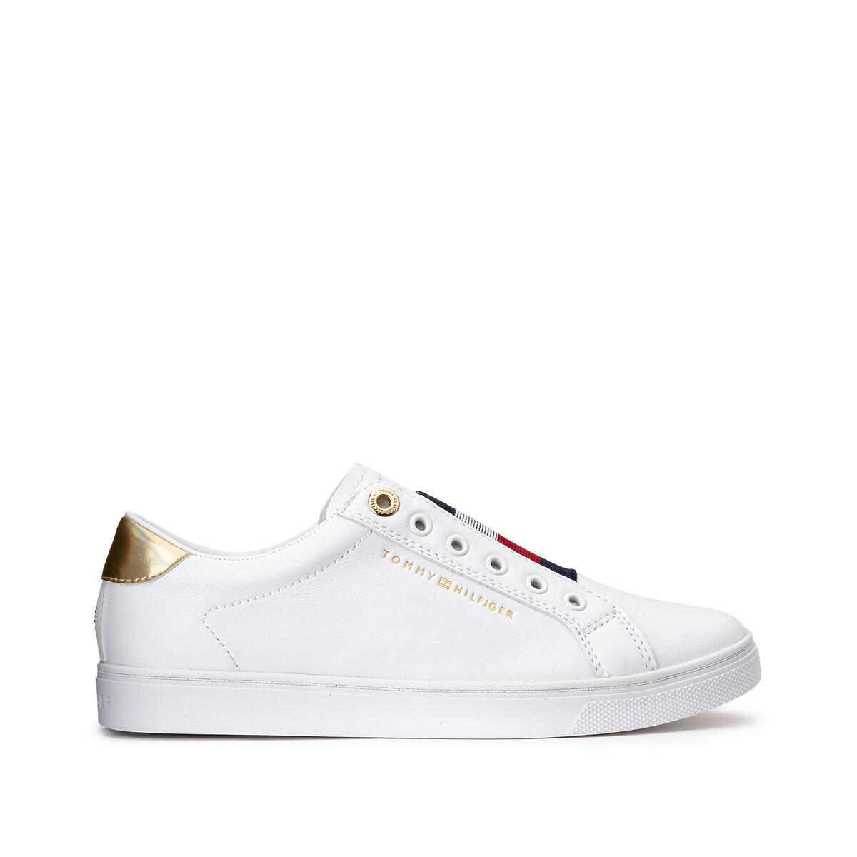 Tommy Hilfiger TH Elastic Slip On Sneaker leren sneakers wit online kopen