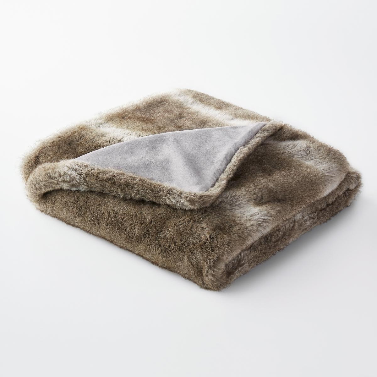 Плед BAZSO из искусственного меха жакет из велюра на подкладке из искусственного меха