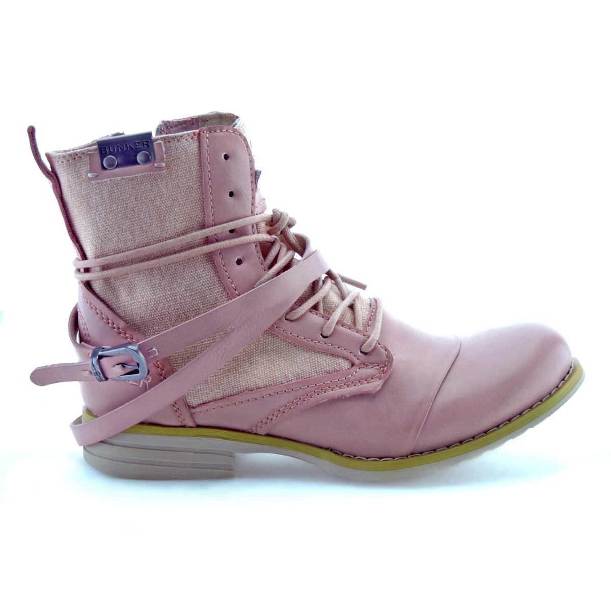 Ботильоны SaraВерх : синтетика   Подкладка : кожа   Стелька : кожа   Подошва : эластомер   Высота каблука : 2,5 см   Форма каблука : плоский каблук   Мысок : закругленный мысок  Застежка : молния<br><br>Цвет: розовый<br>Размер: 37