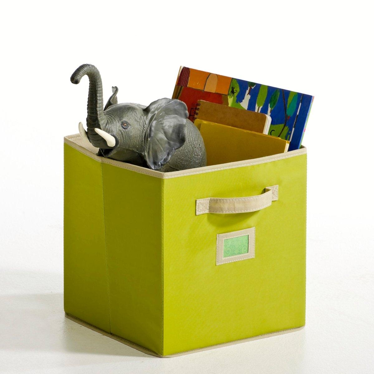 2 ящикаИгрушки и книги больше не валяются в беспорядке! Идеальное решение для порядка в комнате. 100% полиэстера. Размер: ширина 29 х высота 31 см х глубина 29 см. В комплекте 2 ящика одного цвета.<br><br>Цвет: зеленый,розовый,серо-коричневый,фиолетовый