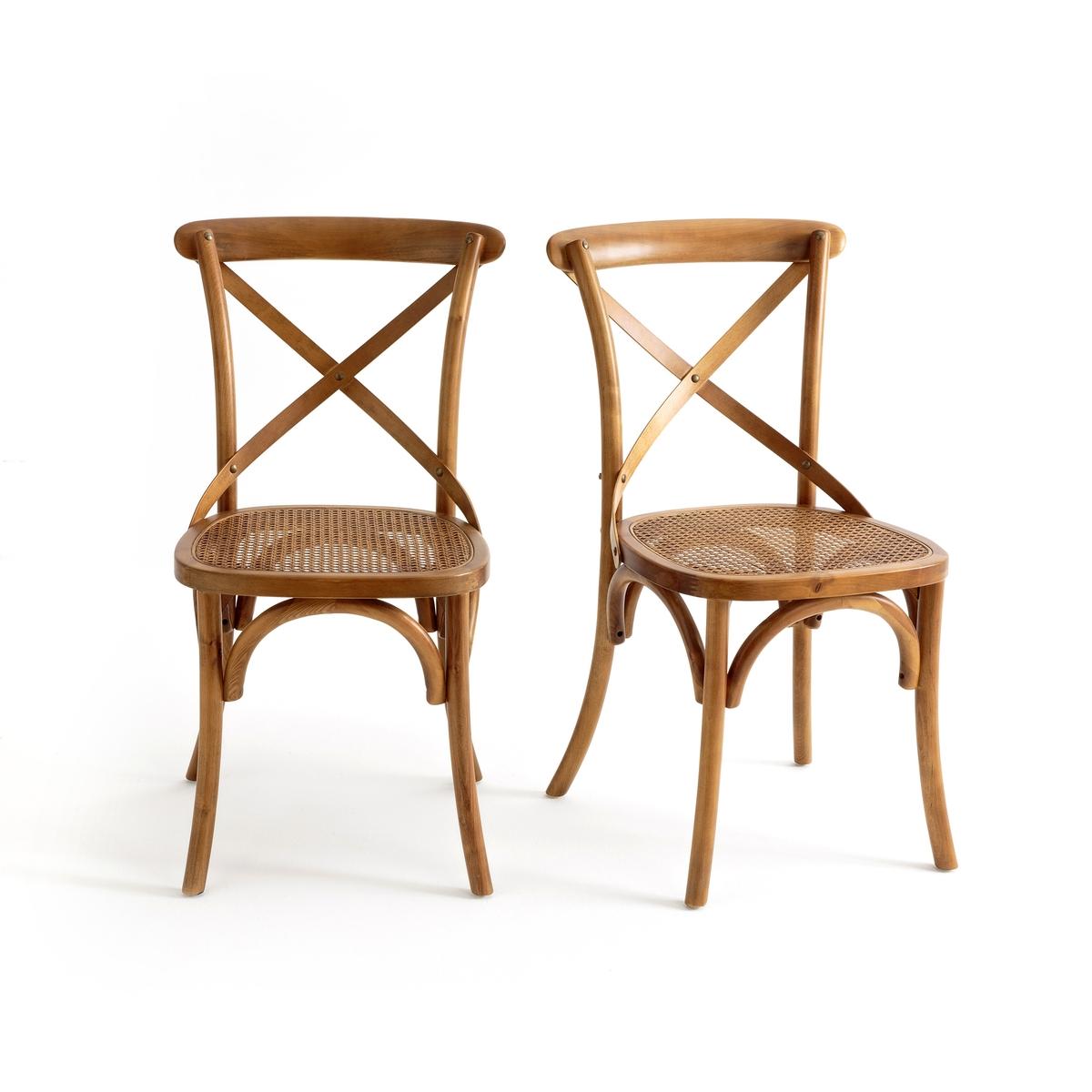 Комплект из 2 стульев с крестообразной спинкой Cedak