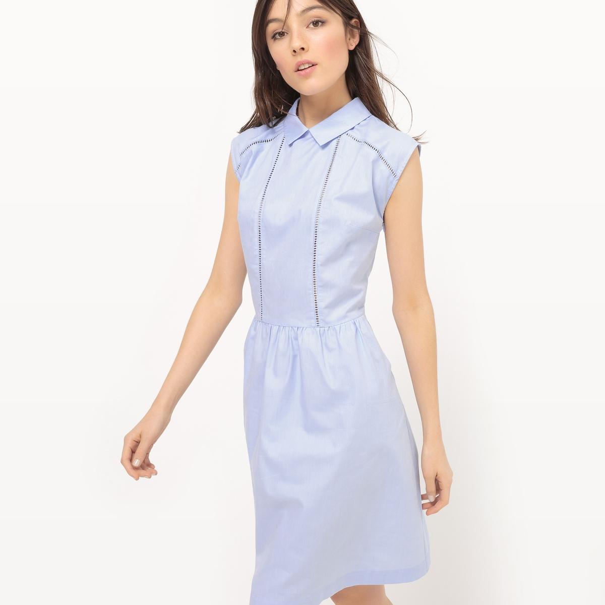 Платье однотонное без рукавов
