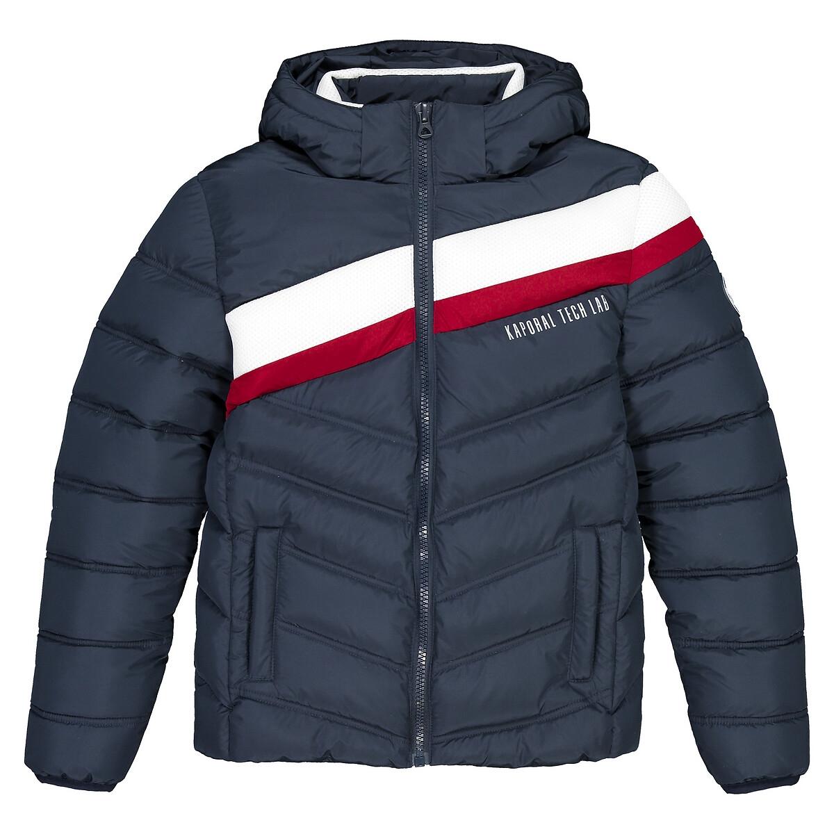 Куртка La Redoute Со съемным капюшоном 10-16 лет 16 лет - 174 см синий куртка la redoute тонкая непромокаемая maxime xxl синий