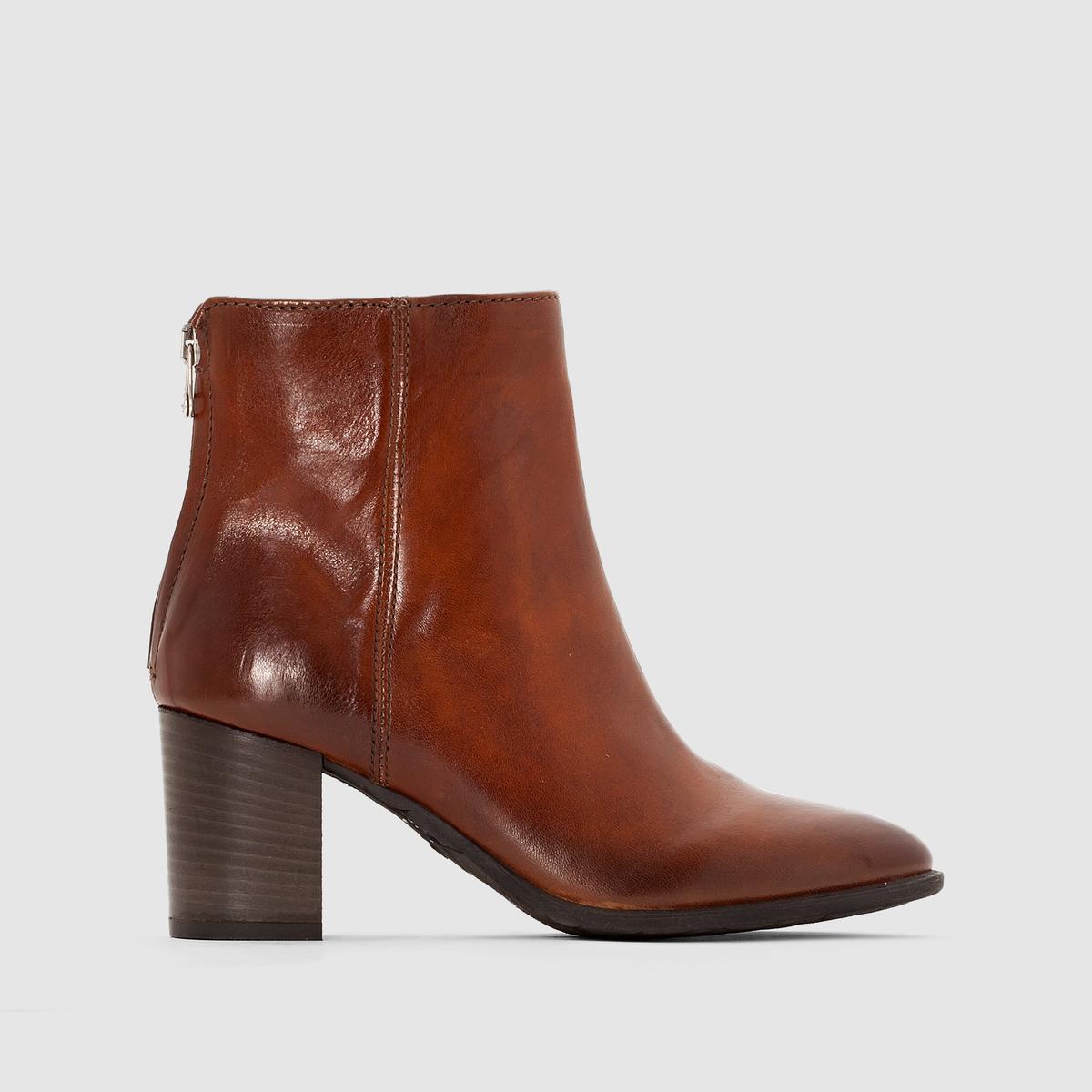 Сапоги из кожи MJUS LAVANDAПреимущества : сапоги MJUS с молнией сбоку и на каблуке  . Кожа с эффектом патины . Высокий каблук .<br><br>Цвет: серо-коричневый<br>Размер: 40