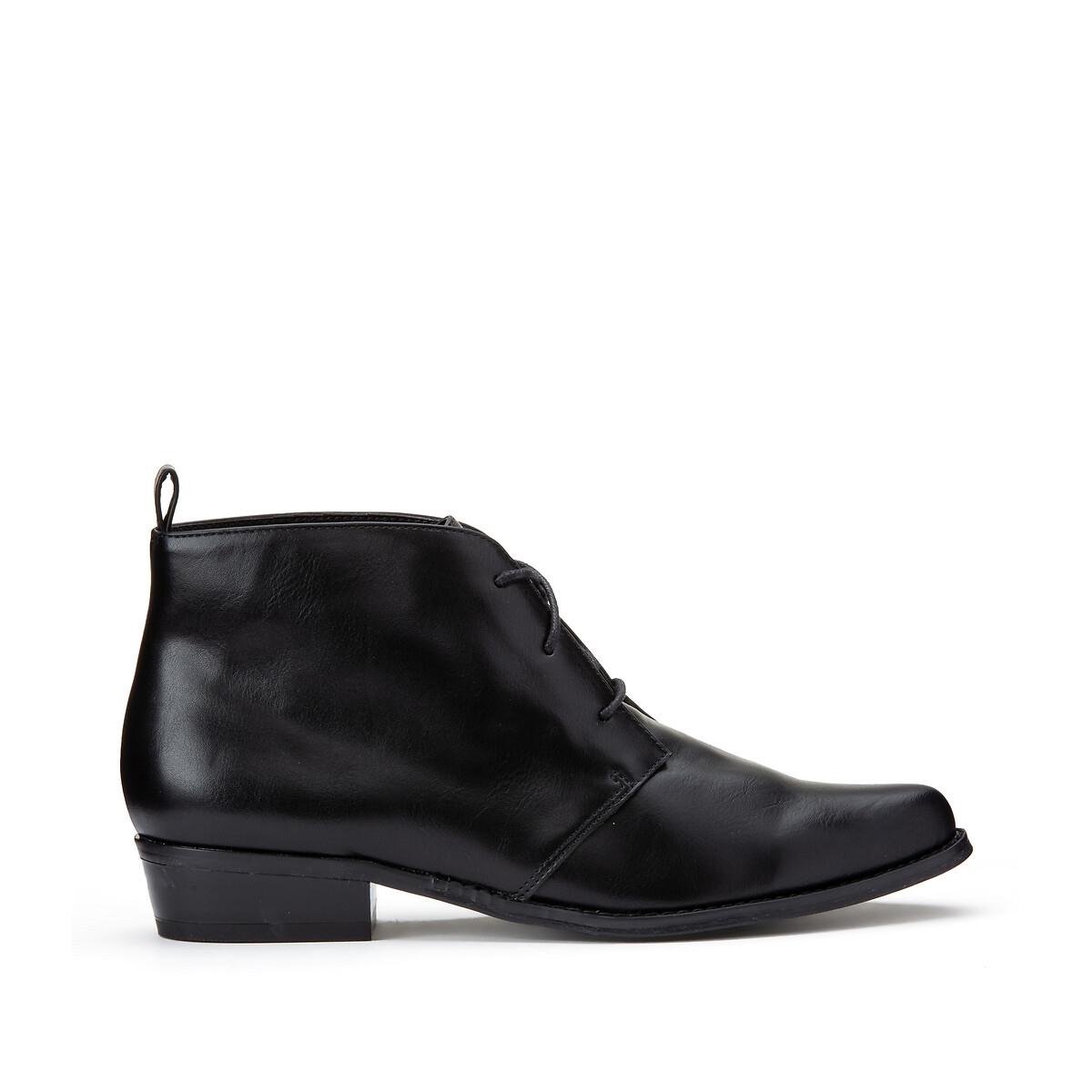 Ботинки-оксфорды LaRedoute На шнуровке 36 черный 350189219 фото
