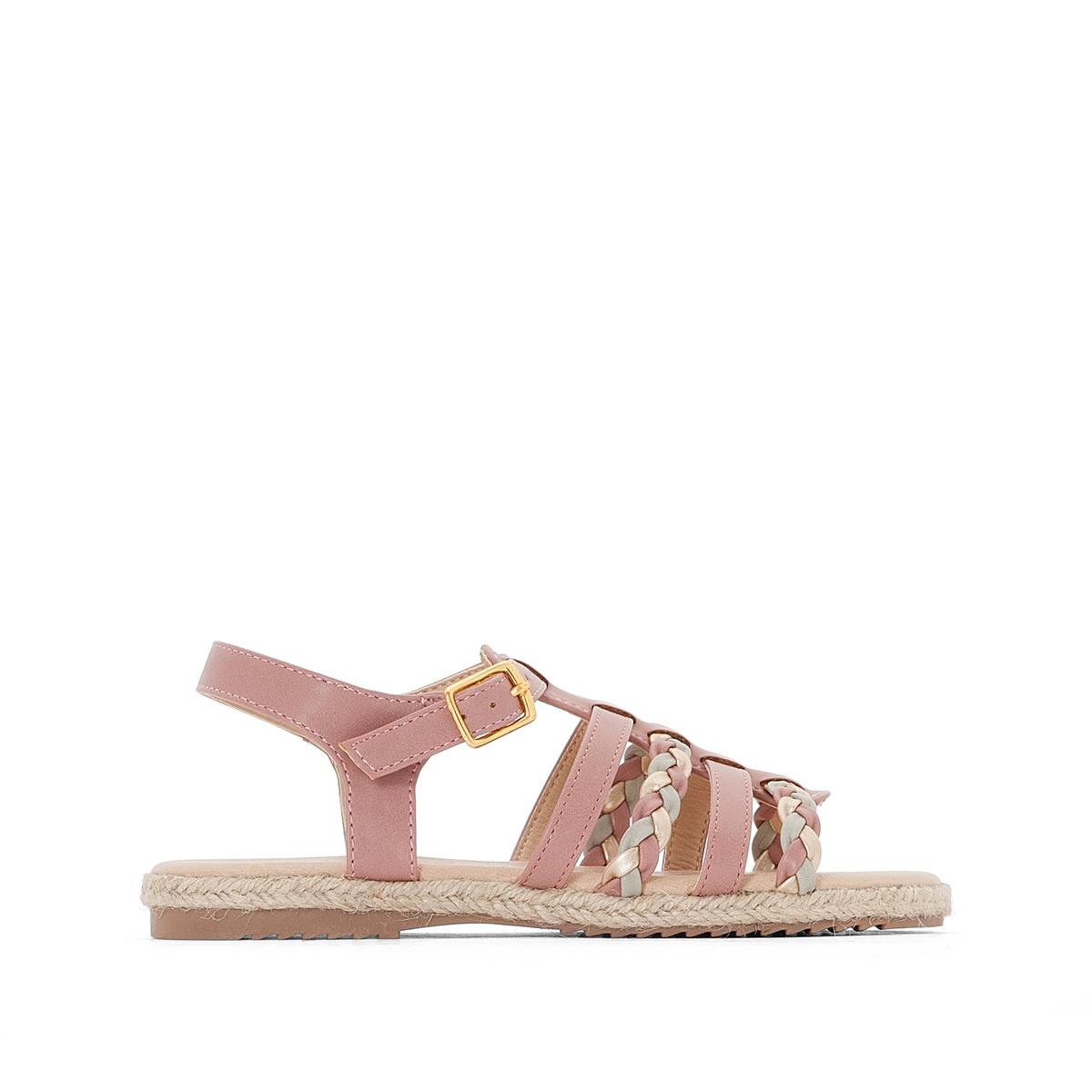 Босоножки на плоском каблуке, размеры 26-34 босоножки кожаные на плоском каблуке la conquise