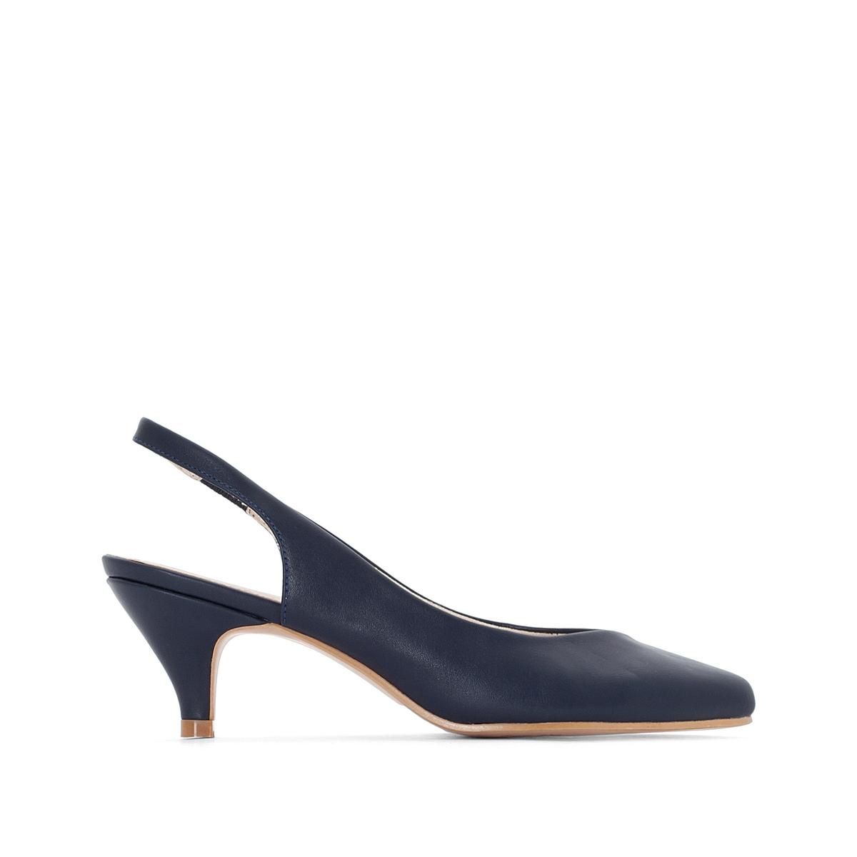 цена на Туфли La Redoute С открытым задником для широкой стопы размеры - 45 синий