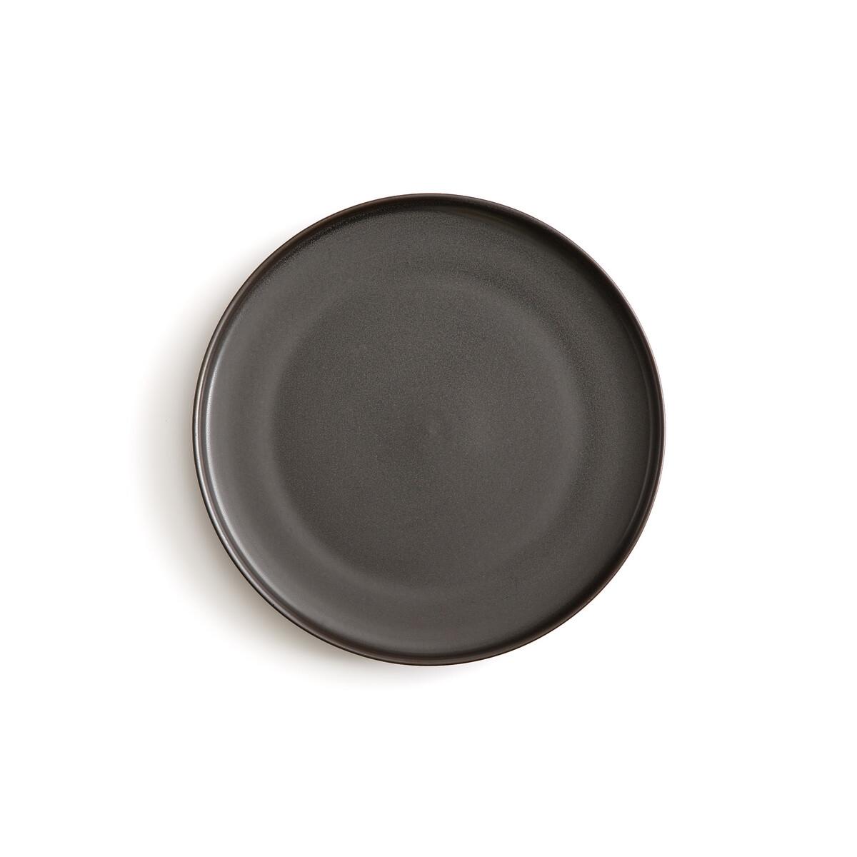 Фото - 4 десертные LaRedoute Тарелки из глазурованной керамики Akira единый размер черный 4 десертные laredoute тарелки из глазурованной керамики anika единый размер серый