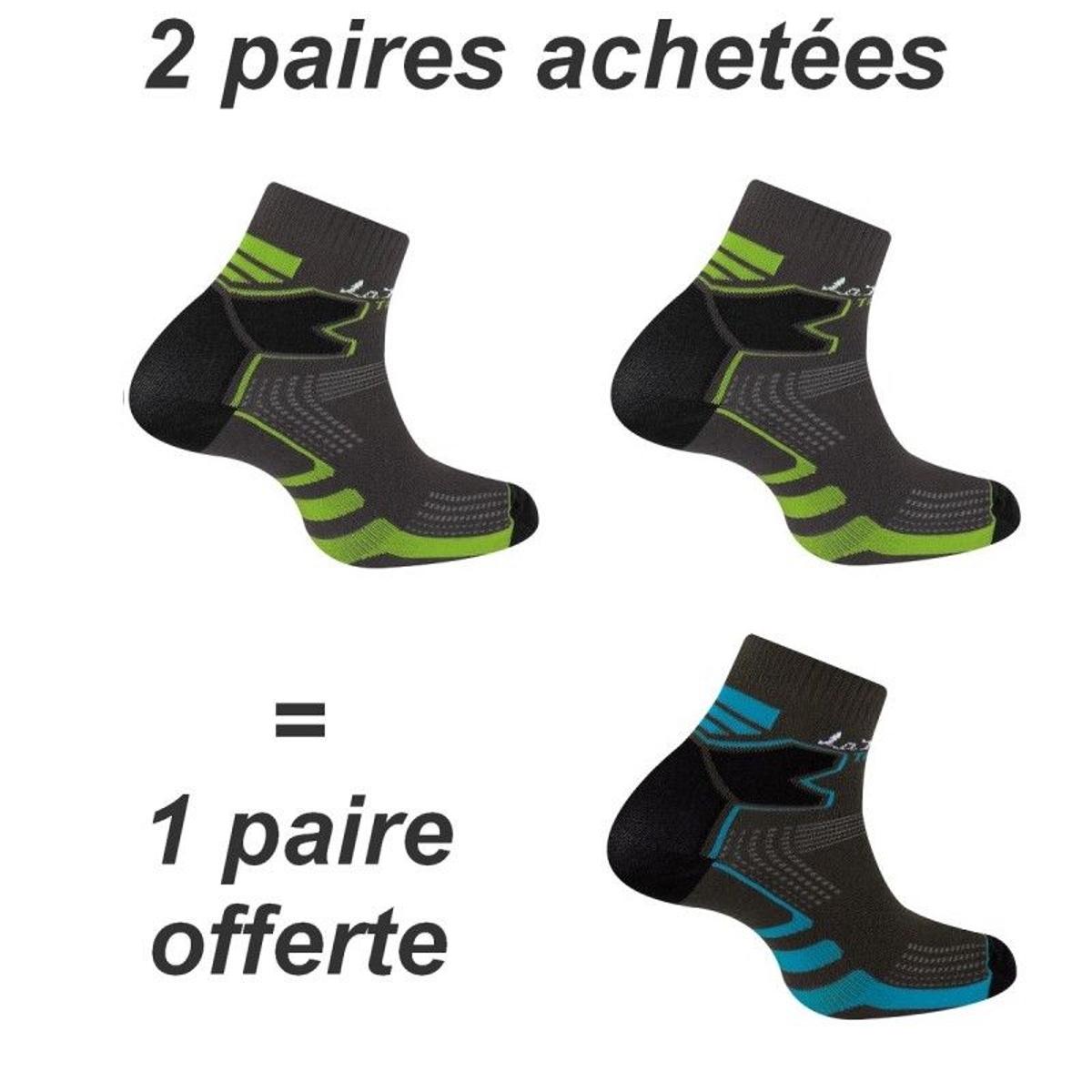 2 paires + 1 gratuite socquettes Double Trail