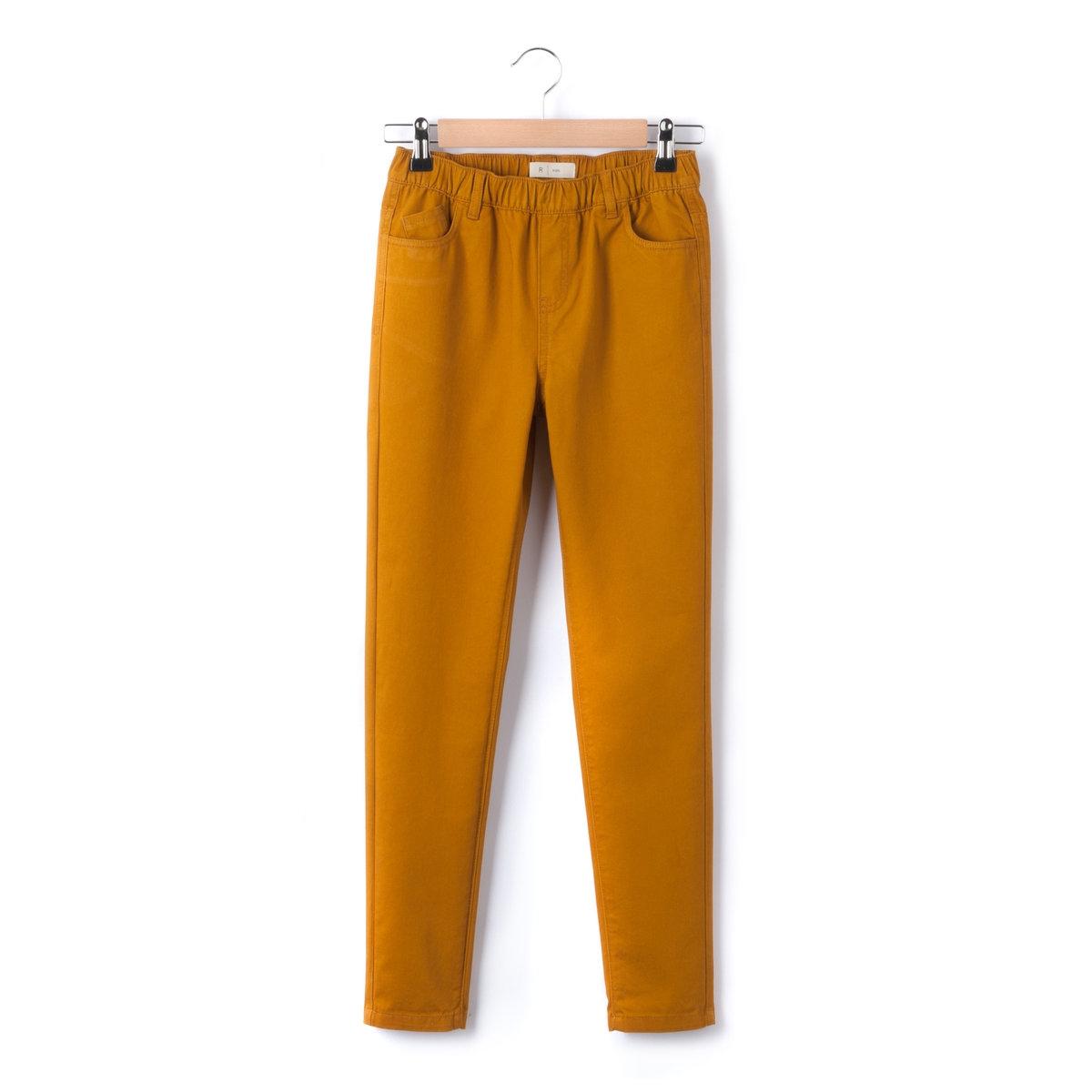 Джеггинсы скинниДжеггинсы из трикотажа стретч: 70% хлопка, 27% полиэстера, 3% эластана. Совсем как джинсы скинни, но... с большим комфортом!   Эластичный пояс со шлевками для ремня. Ложная планка застежки. 2 кармана спереди + 1 часовой кармашек. 2 кармана сзади.<br><br>Цвет: бордовый,темно-бежевый<br>Размер: 14 лет.12 лет -150 см.12 лет -150 см