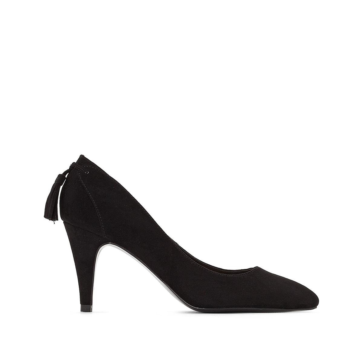 Туфли с помпоном сзади на каблуке-шпильке