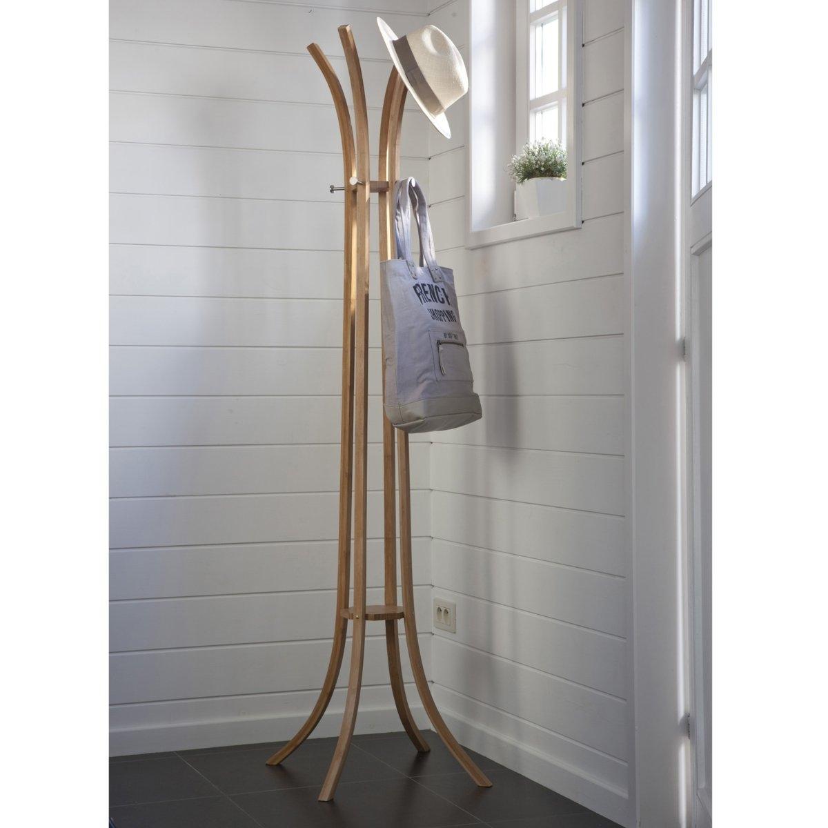 Стойка-вешалка напольная с 4 планками Teepi из бамбука