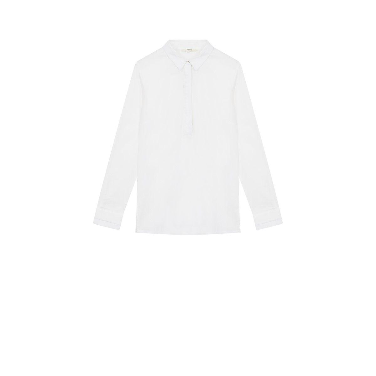 Chemise tunique coton blanc