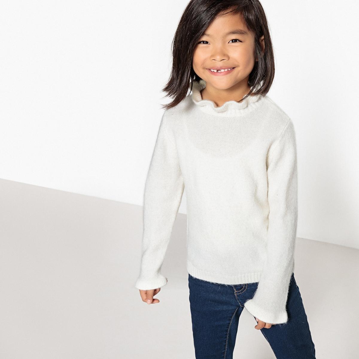 Пуловер с воланами 3-12 лет