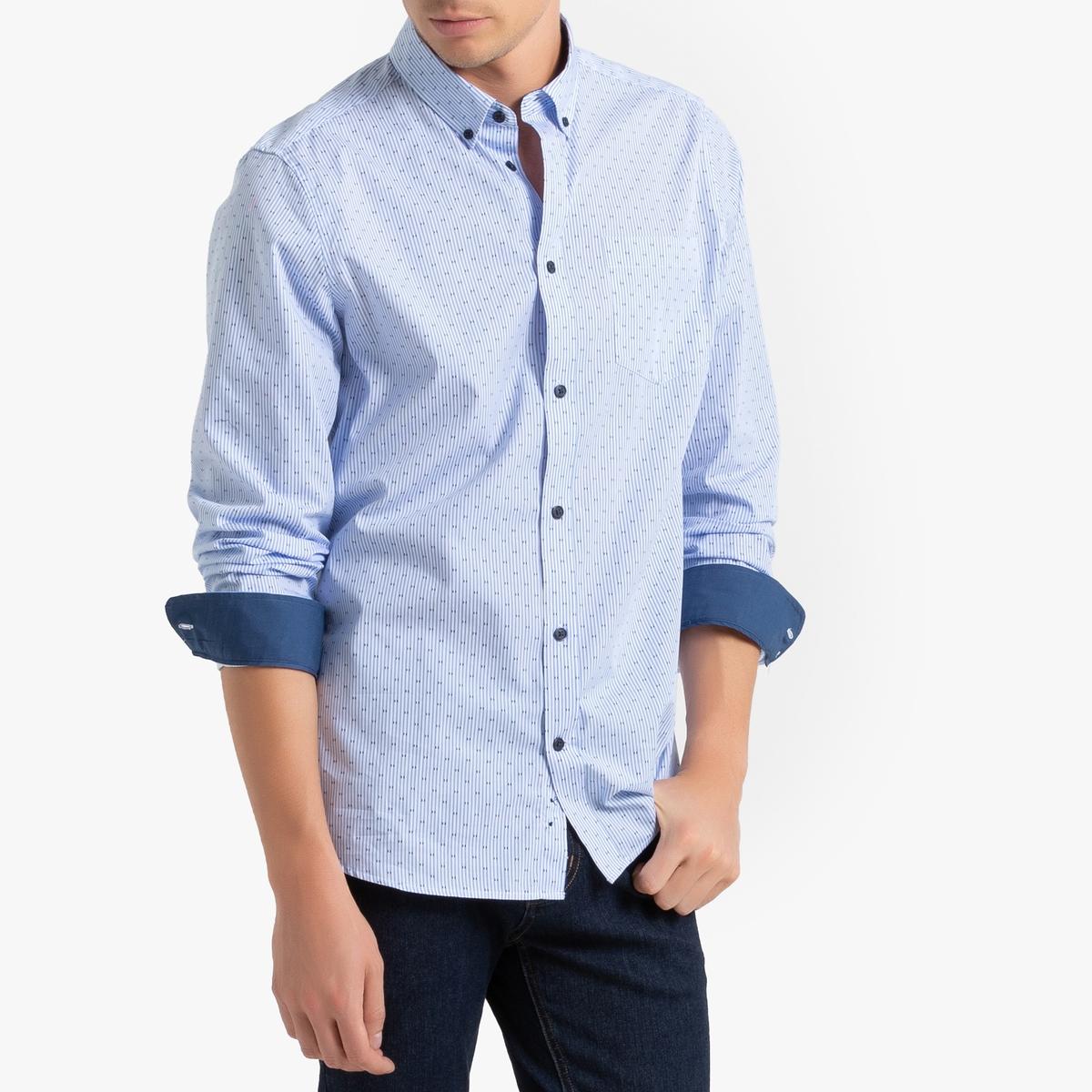 Camisa con estampado y corte slim