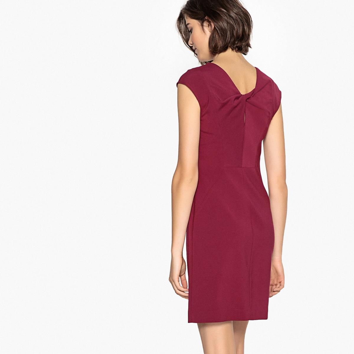 Платье La Redoute Прямое с бантом сзади 38 (FR) - 44 (RUS) красный