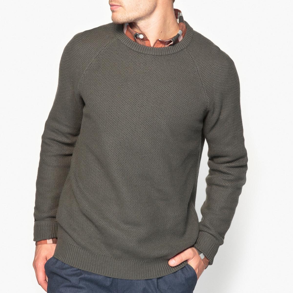 Пуловер с круглым вырезом из оригинального трикотажа