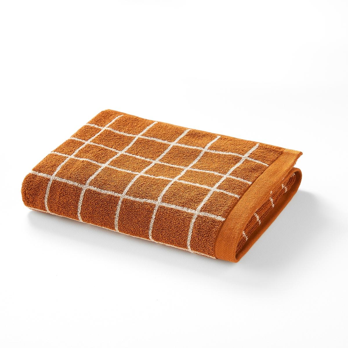 Полотенце La Redoute Махровое жаккардовое Craft 50 x 100 см каштановый полотенце proffi home классик цвет шоколадный 50 x 100 см