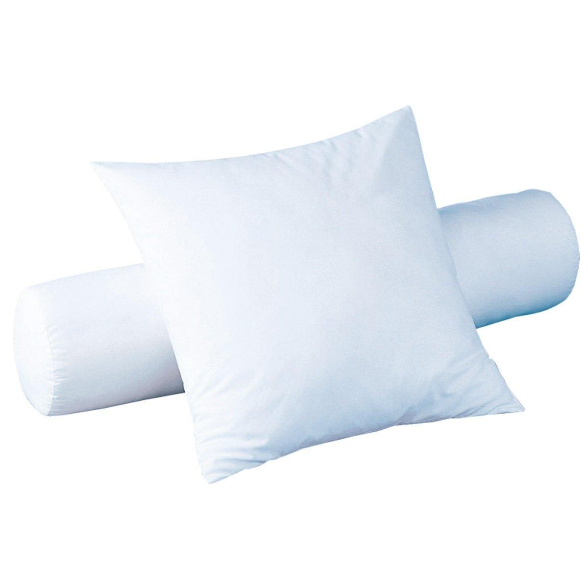 Валик из синтетикиКоллекция PRATIQUE от R?VERIE. Наполнитель: полые силиконизированные волокна полиэстера принимают форму головы для максимального комфорта. Чехол из микрофибры, 100% полиэстера. Практично: стирка при 95° для идеальной гигиены. Размеры в см.<br><br>Цвет: белый<br>Размер: длина: 90 см