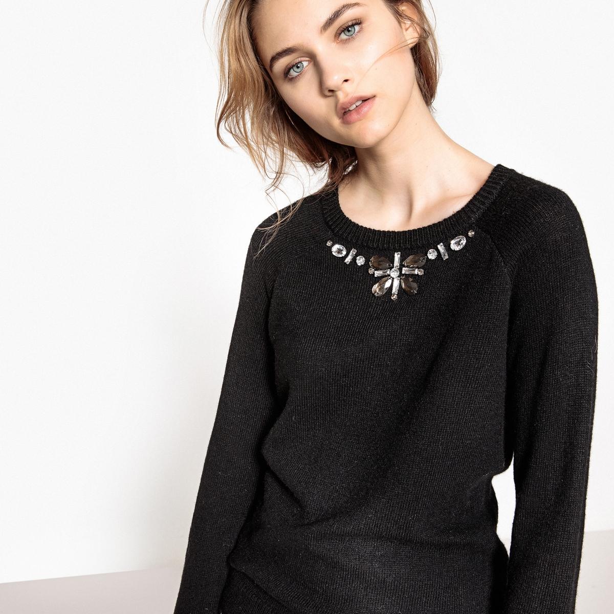 цена на Пуловер с декоративным украшением