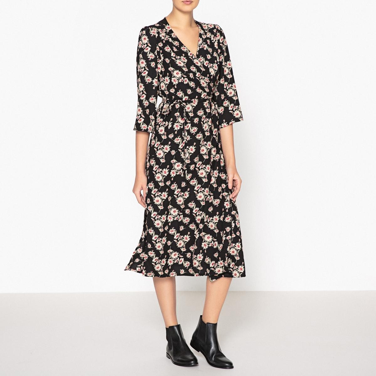 Платье с запахом и рисунком PLEASE lamagio 117 la
