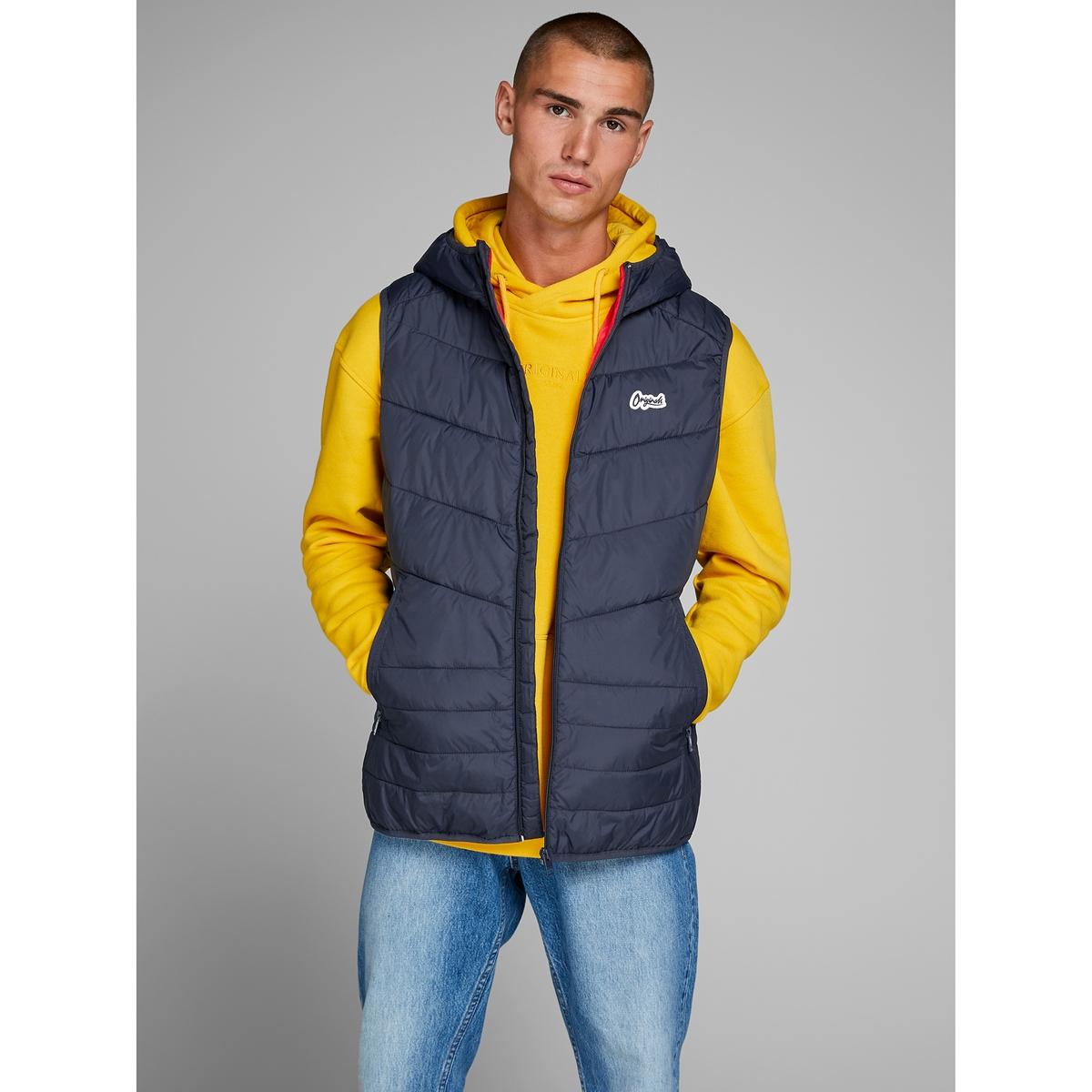Куртка легкая на молнии без рукавов JACK & JONES