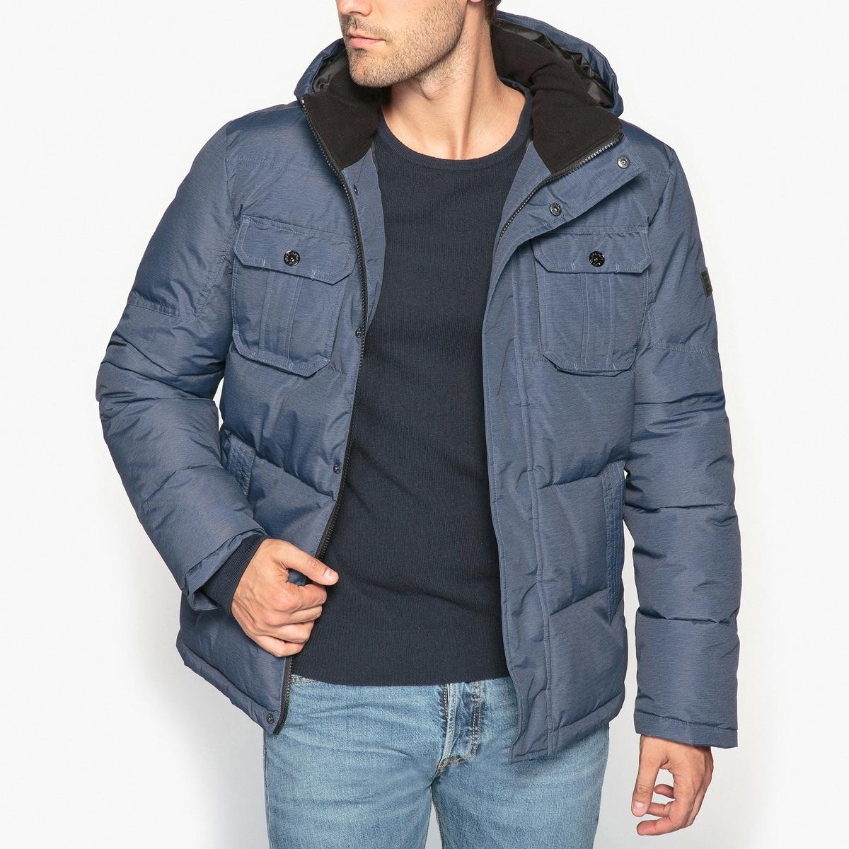 Куртка стеганая с капюшоном JACK & JONES