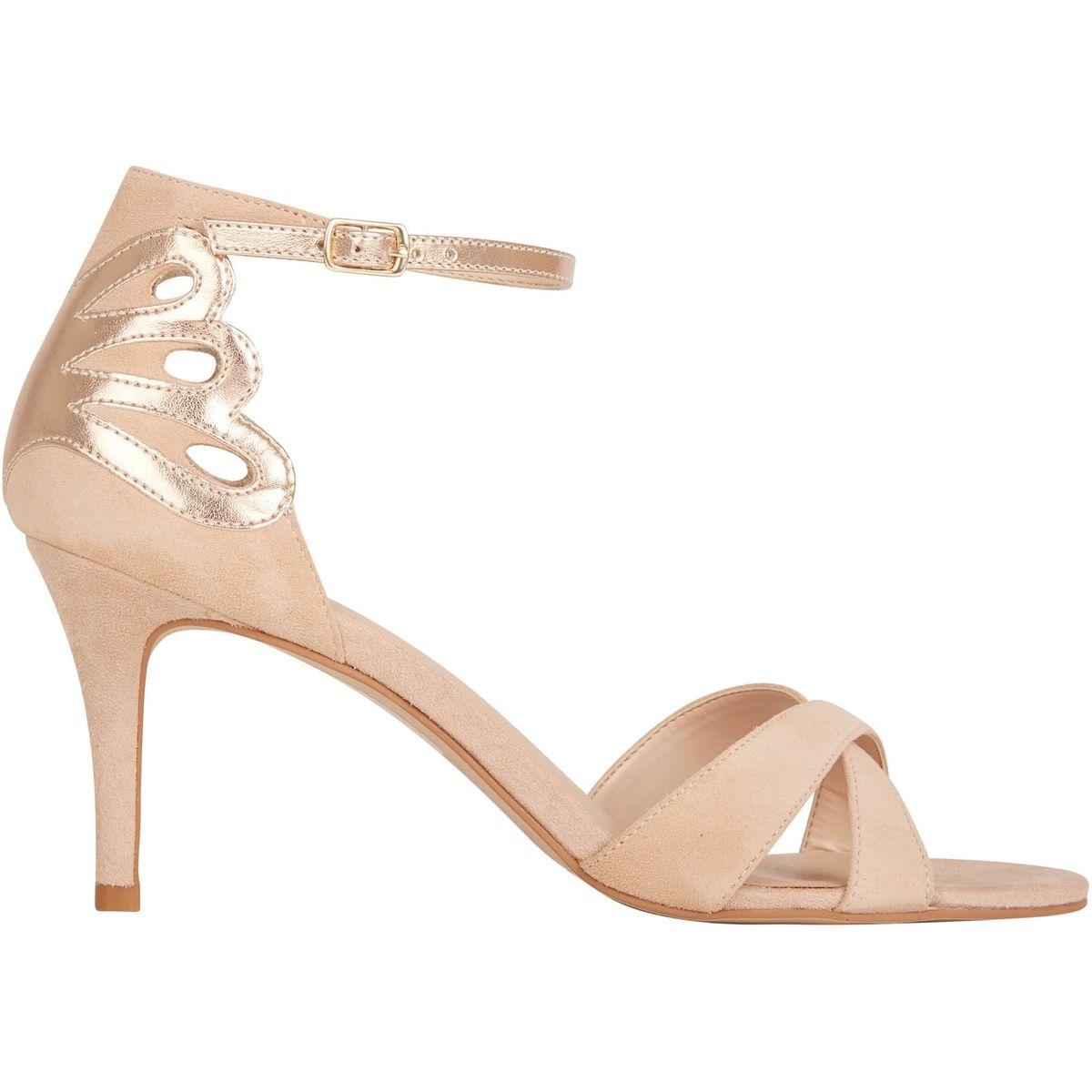 Sandales en cuir fantaisie