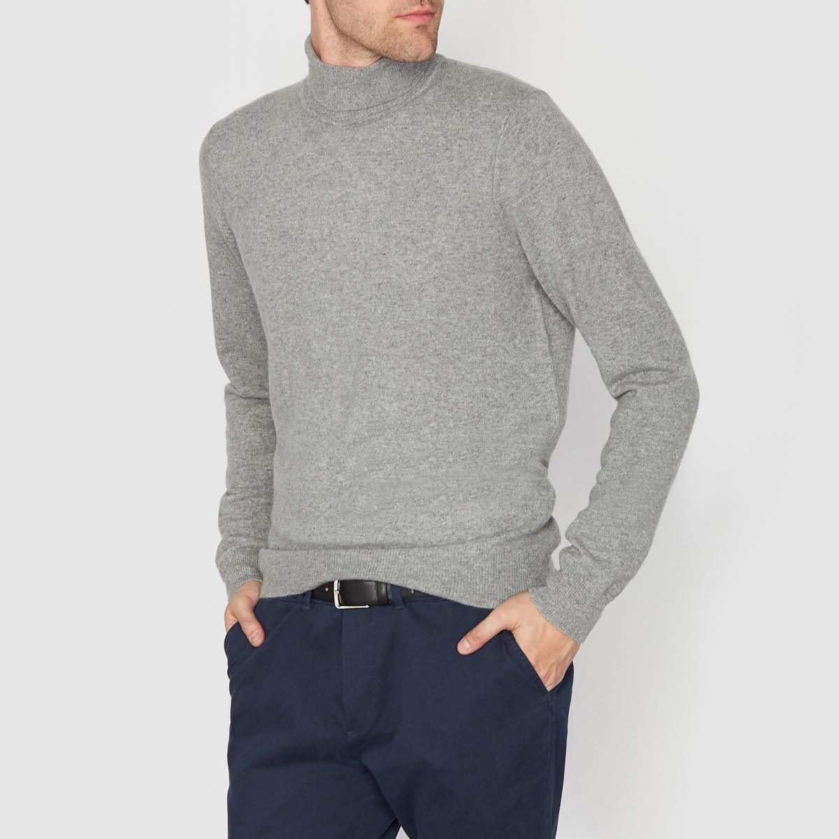 Пуловер с высоким воротником, 100% кашемираСостав и описаниеМатериал: 100% кашемира.Длина: 66 см.Марка: R essentiel.<br><br>Цвет: темно-синий<br>Размер: S