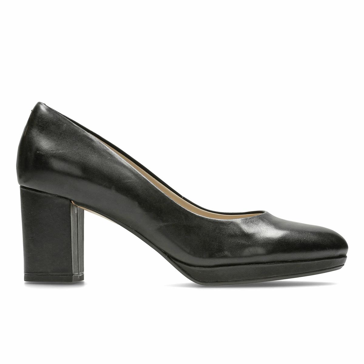 Туфли кожаные Kelda HopeВерх : замша   Подкладка : синтетика   Стелька : Кожа.   Подошва : Каучук   Высота каблука : 7 см   Форма каблука : квадратный.   Мысок : закругленный   Застежка : Без застежки<br><br>Цвет: черный<br>Размер: 38