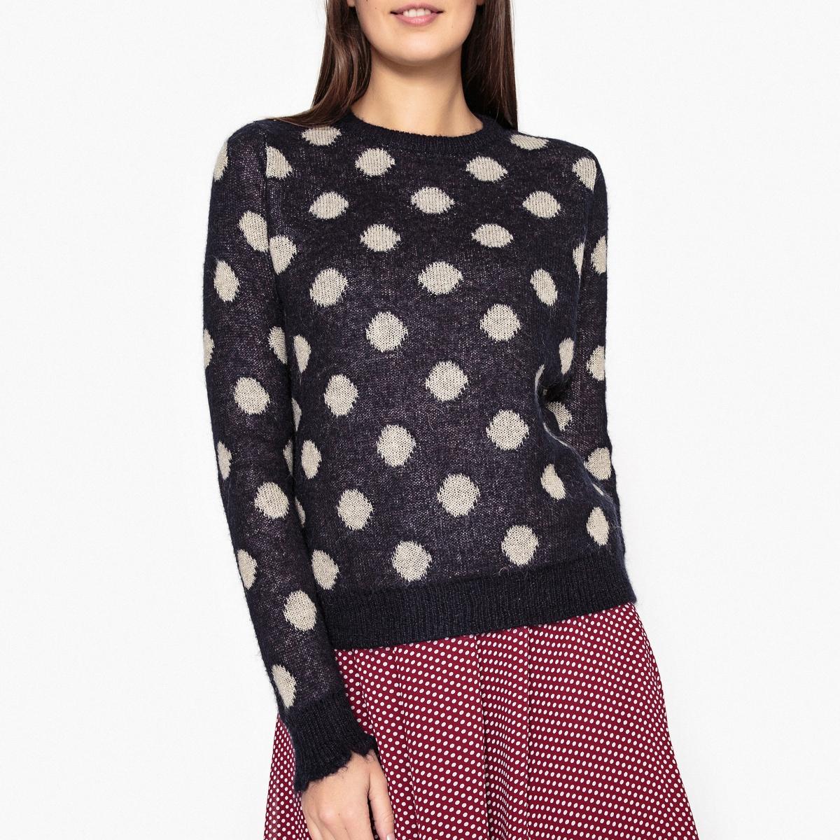Пуловер из трикотажа в горошек MANTEQUILLA