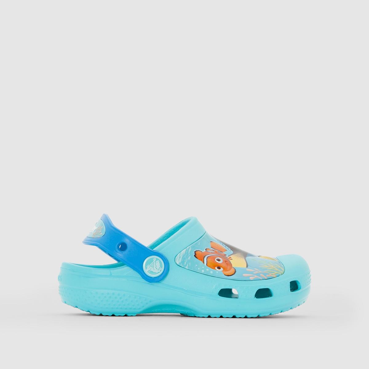 Сабо CROCS CC FINDING DORY CLOG KВесь комфорт обуви Crocs с изображением любимого персонажа : ваш ребенок не захочет с ними расставаться !<br><br>Цвет: бирюзовый/рисунок<br>Размер: 22/24