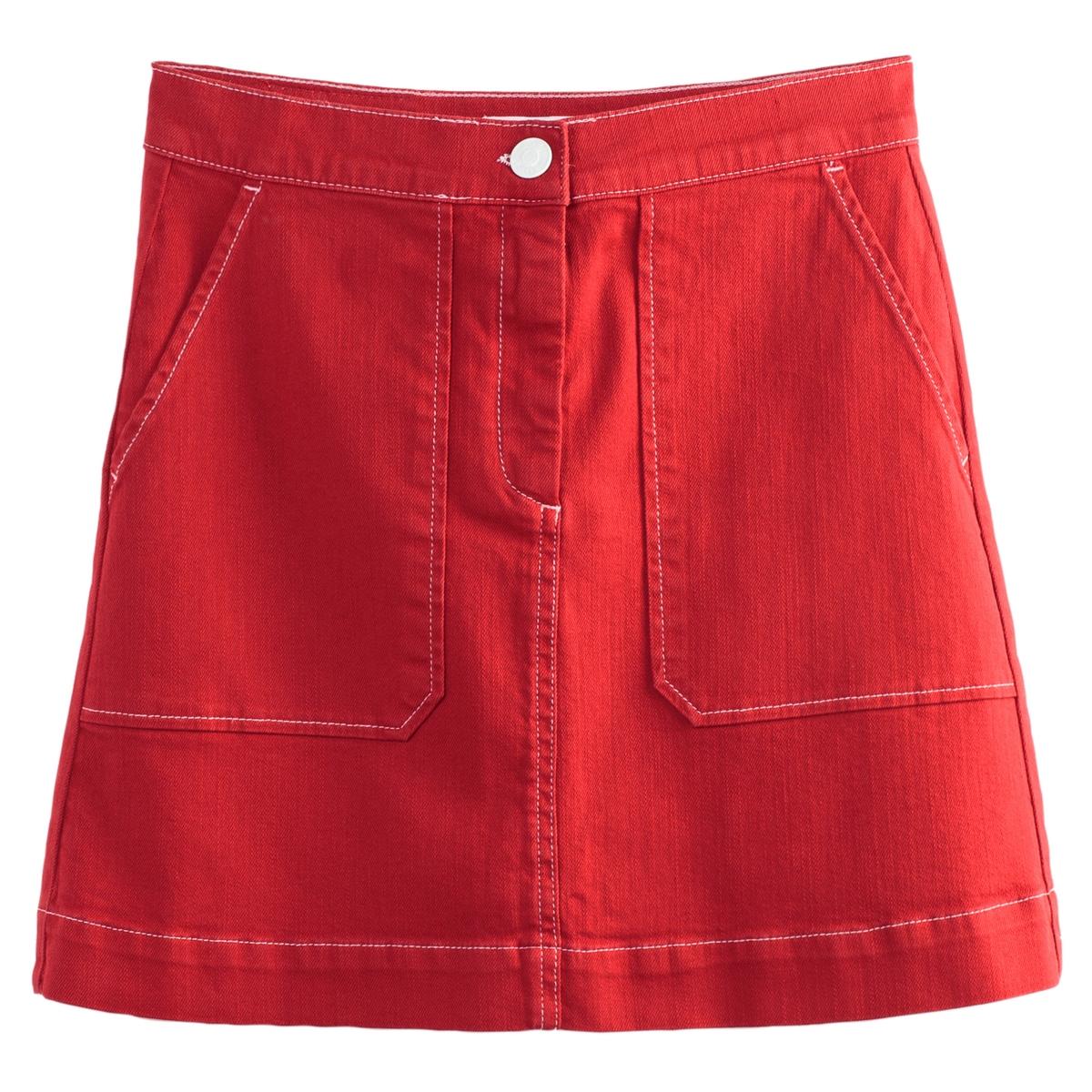 Falda corta con dos bolsillos grandes tipo parche