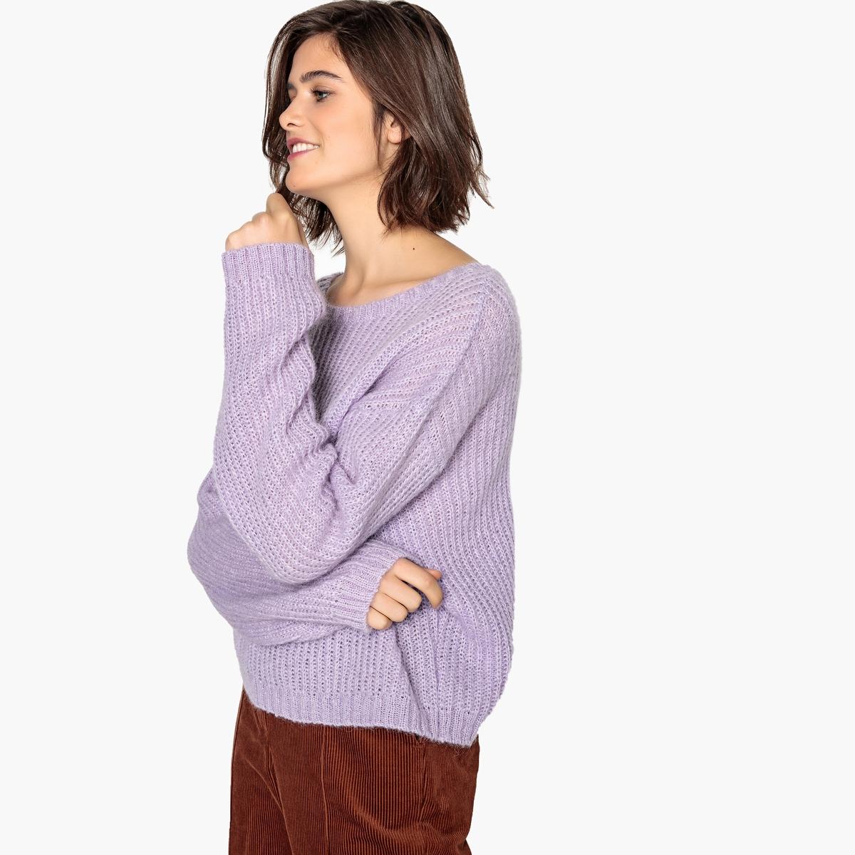 Пуловер La Redoute Покроя оверсайз XL розовый