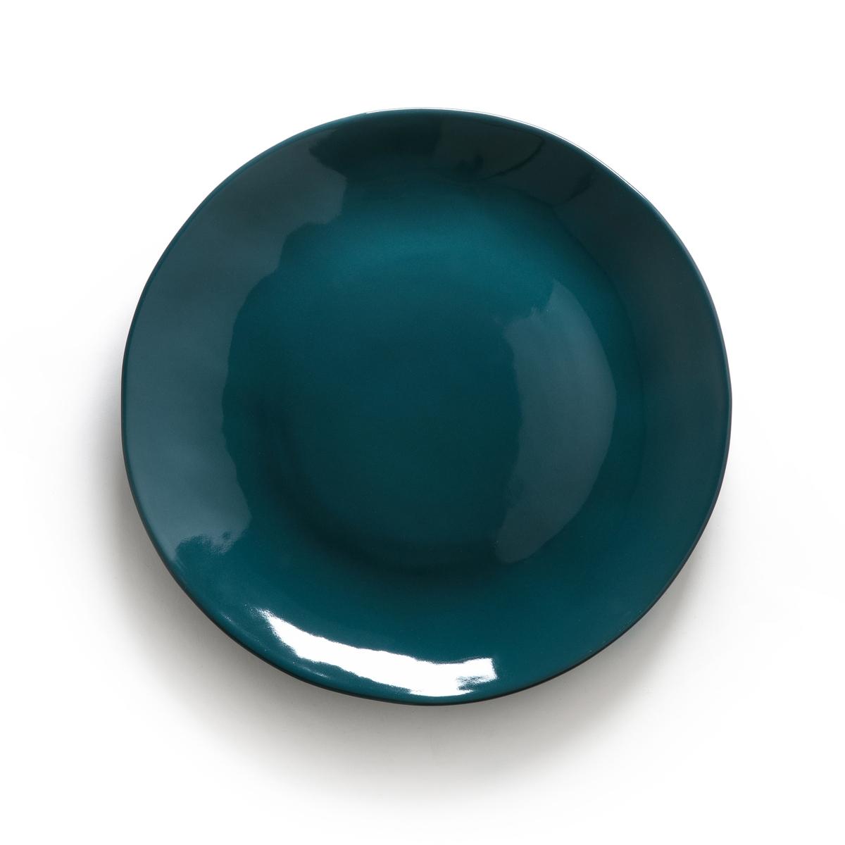 Комплект из 4 плоских тарелок из керамики, KILMIAОписание:Комплект из 4 плоских тарелок La Redoute Interieurs добавит живости и блеска благодаря своей эмалированной отделке.Характеристики 4 плоских тарелок  : •  Эмалированная керамика •  Подходит для мытья в посудомоечной машине и использования в микроволновой печи Размеры 4 плоских тарелок : •  Диаметр : 28 смВсю коллекцию столового декора вы найдете на сайте laredoute.ru<br><br>Цвет: горчичный,сине-зеленый