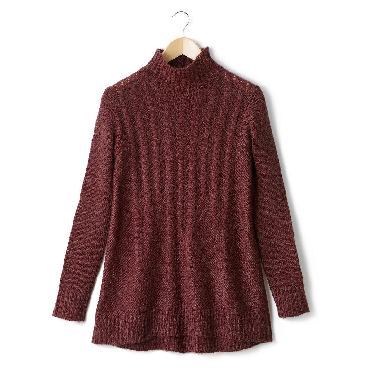 Пуловер-туника из трикотажа джерси крупной вязки, 100% акрила