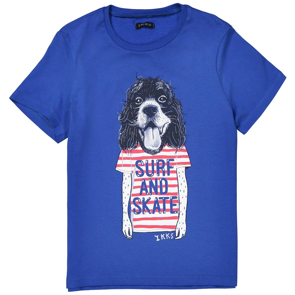 Футболка с рисунком собака, 3 - 14 летДетали •  Короткие рукава •  Круглый вырез •  Рисунок спередиСостав и уход •  100% хлопок •  Следуйте рекомендациям по уходу, указанным на этикетке изделия<br><br>Цвет: синий